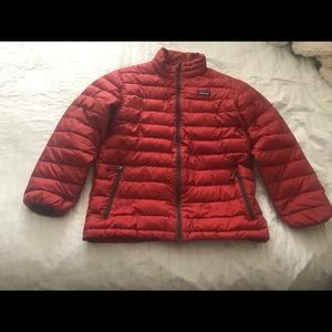 Patagonia Boy's Size L Red Down coat